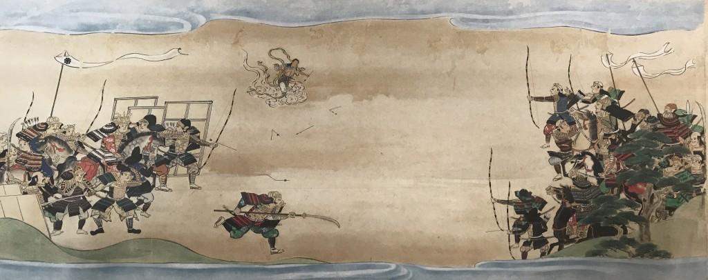 Myoken Dai-Bosatsu eilt dem Chiba-Clan in der Schlacht zur Hilfe