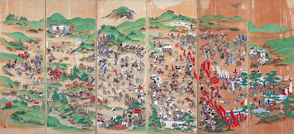 Die Schlacht von Sekigahara, dem größten Schlachtfeld in der Geschichte der Samurai