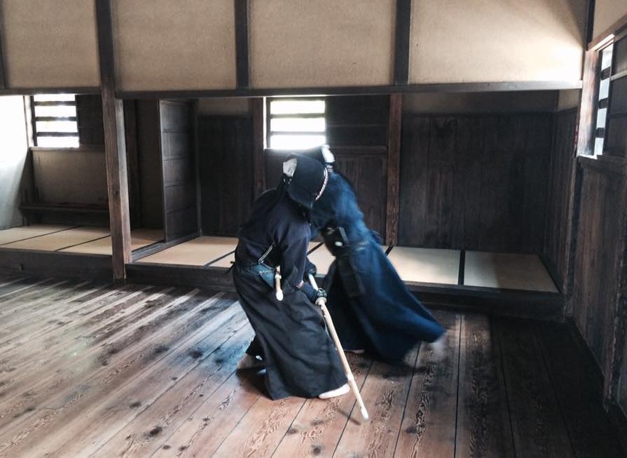 Gekiken-Shiai Geiko, wie es während der späten Edo-Periode von über 90% aller existierenden Ryūha ausgeübt wurde.